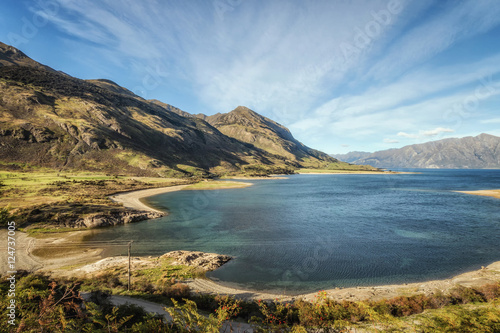 Lake Hawea in the South Island., New Zealand. Poster