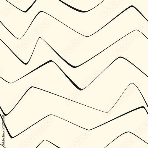 Seamless Repeat Minimal lines abstract stripes paper textile fabric pattern - 124743442
