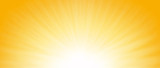 Shiny sun lights, abstract summer background and banner design. - 124744806