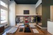 Detaily fotografie Interior of modern urban fashion clothes t-shirt store