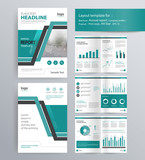 page layout for company profile, annual report, brochure, and flyer layout template. with info graphic element. and vector A4 size  for editable  - 124749085