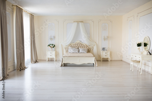 Plagát Bedroom in soft light colors