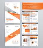 page layout for company profile, annual report, brochure, and flyer layout template. with info graphic element. and vector A4 size  for editable  - 124756461