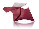 Origami paper brown deer