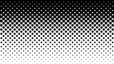 Black dots pattern on white. Computer generated seamless loop abstract halftone motion background.
