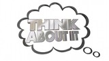 Think About It Thought Cloud Words 3d Animation