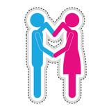 man woman romantic couple icon image vector illustration design