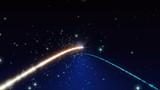 流れ星の回転