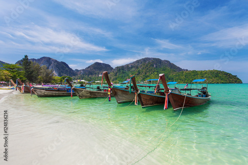 Poster Boats On Koh Phi Phi Thailand