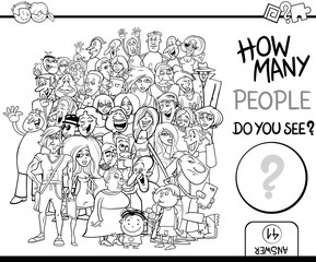 counting people task coloring page