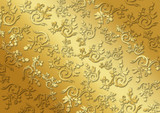 Fundo vintage arabesco dourado