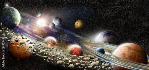 Alien solar system - 124923481
