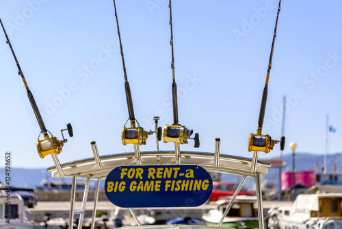 Big game fishing boat and equipment for rent Poster