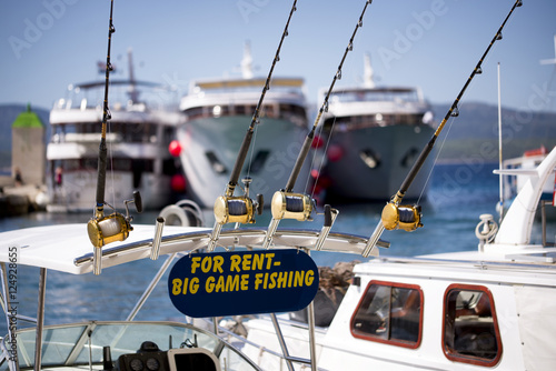 Big game fishing boat and equipment for rent poster sold for Rent fishing gear