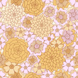Abstract Seamless pattern. Floral background
