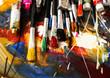 Artist paint brush on painting background - 124942206