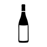 wine bottle icon image vector illustration design