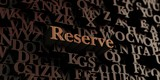 Reserve - Wooden 3D rendered letters/message.  Can be used for an online banner ad or a print postcard.