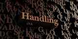 Handling - Wooden 3D rendered letters/message.  Can be used for an online banner ad or a print postcard.