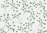 Abstract flora pattern design background | decoration retro style | nature branch textured