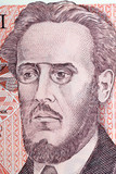 Ludwik Warynski portrait from Polish old hundred zloty