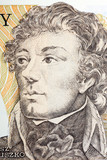 Tadeusz Kosciuszko portrait from Polish old five hundred zloty