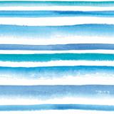 Watercolor striped seamless pattern - 124990643