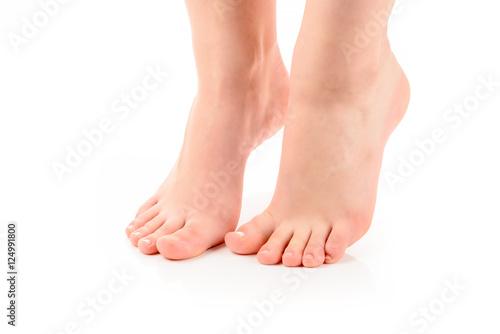 Keuken foto achterwand Pedicure Füße einer jungen Frau