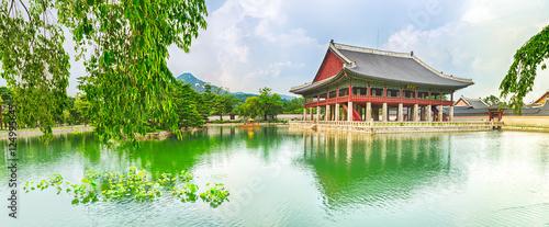 Plexiglas Seoel Gyeongbokgung Palace. South Korea. Panorama