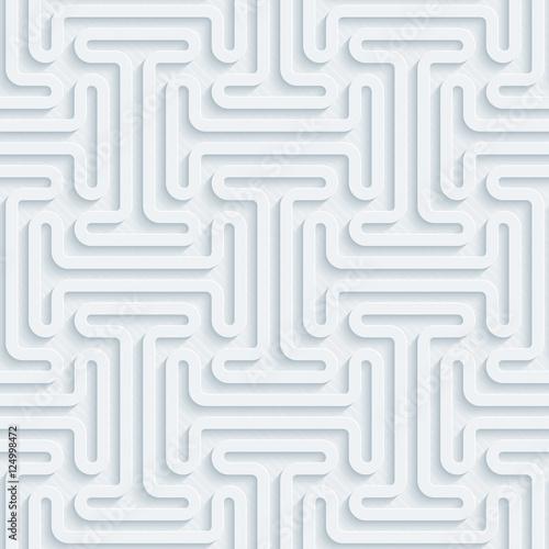 Light gray seamless background. Neutral tileable vector pattern. - 124998472