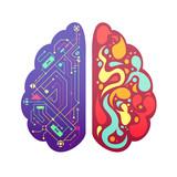 Fototapety Right Left Brain Symbolic Colorful Image