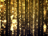 Fototapety Gold Bokeh Falling Glamour Abstract Background.