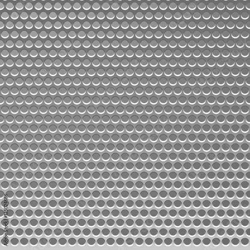 Staande foto Kunstmatig Perforated Metal Template. Translucent Grid Background. Vector I