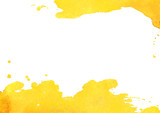 Fototapety Background with yellow watercolor spot. Vector illustrator