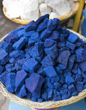 Indigo Colorant, Marrakesh Souk, Morocco / Indigo Colorant on the street market in Marrakech, Morocco