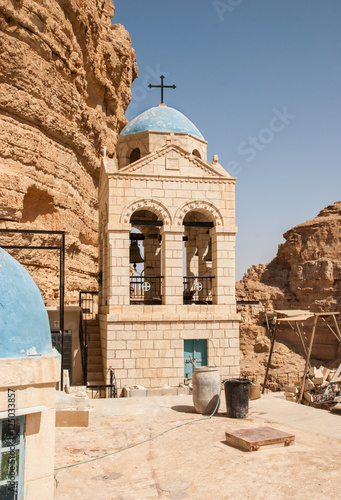 inside the St George Orthodox Monastery, located in Wadi Qelt, I Poster