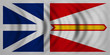 Newfoundland and Labrador flag wavy fabric texture