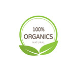 Organic product badge. organic logo