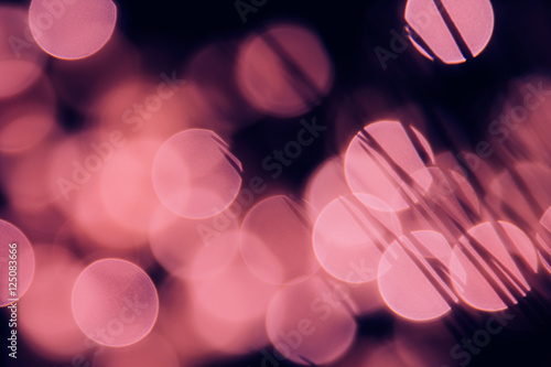 Bokeh dark pink circles and shade grasses on black background. Abstract  festive background. - 125083666