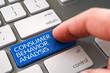 Hand Finger Press Consumer Behavior Analysis Button. 3D.