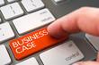 Business Case - Modern Laptop Keyboard Concept. 3D.