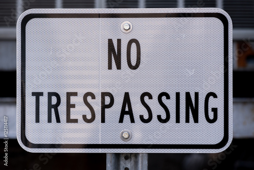 No Trespassing Sign Poster