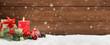 Weihnachten / Kerze / Holz - 125119448