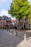 Traditional view of city street in Holland
