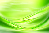Abstract background powerful effect lighting. Green blurred color waves design. Glowing template for your creative graphics. - 125126881