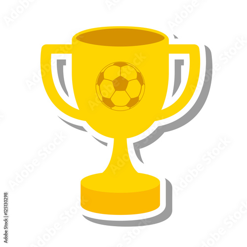 Foto op Canvas trophy cup winner isolated icon vector illustration design