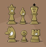 Funny chess pieces - 125135057