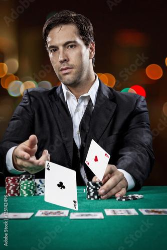 Poster Poker player