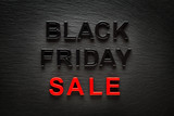 Black Friday Sale on dark slate background