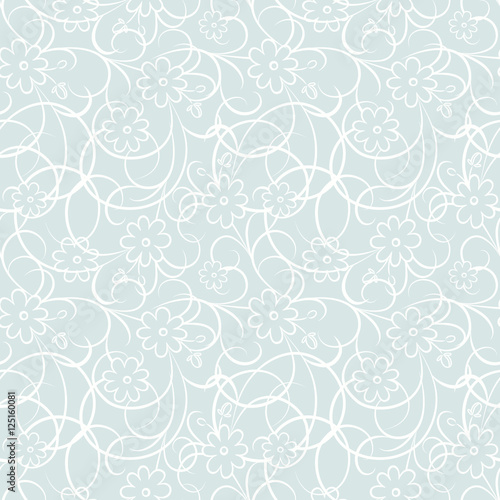 Vector seamless pattern with flowers. Modern stylish texture.